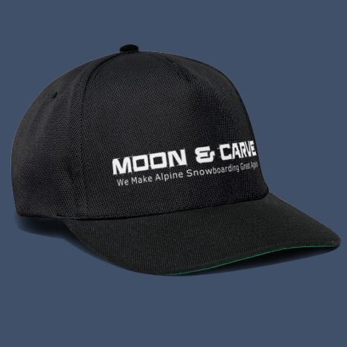 Moon & Carve white - Snapback Cap