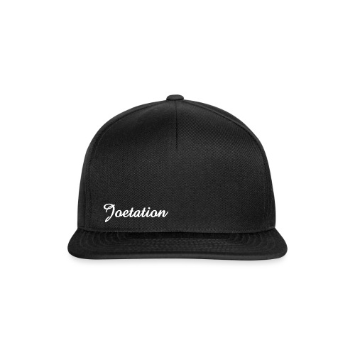 White Text Joetation Signature Brand - Snapback Cap