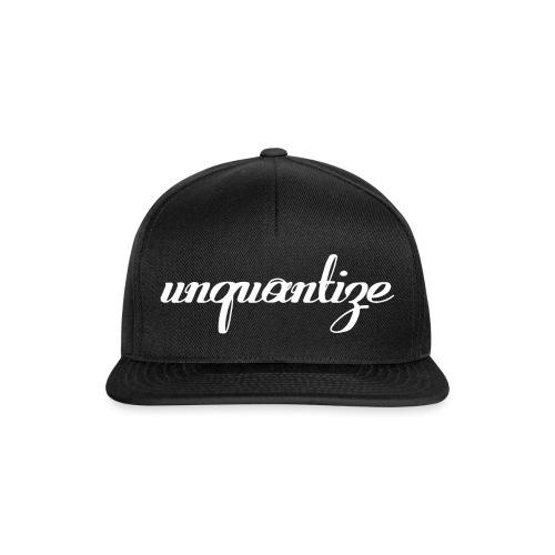 unquantize white logo - Snapback Cap