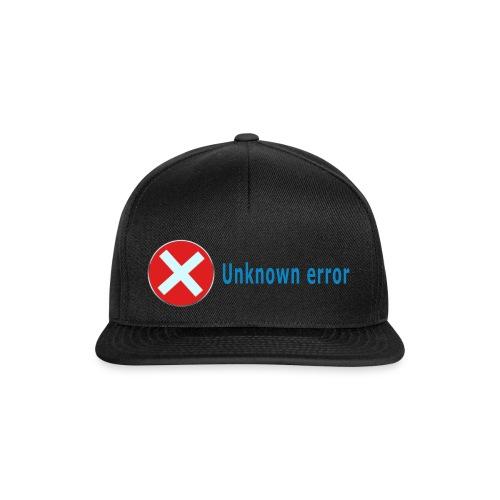 Unkown Error - Snapback Cap