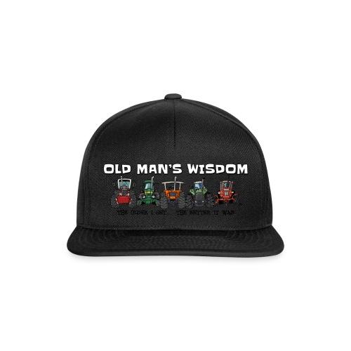 more oldmanswisdom - Snapback cap