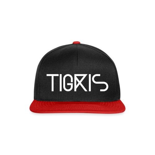 Tigris Vector Text White - Snapback Cap