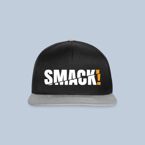 SMACK gross weiss ohne Hintergrund - Snapback Cap