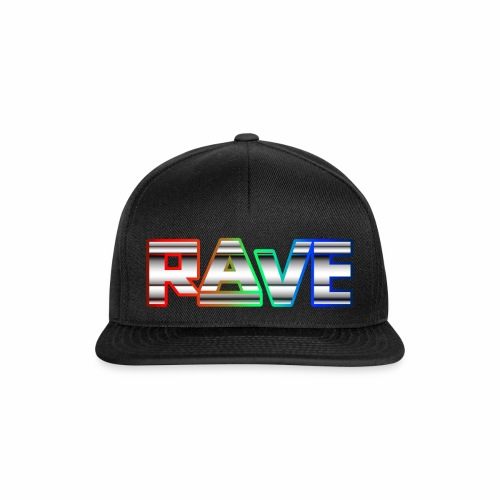 Rave Neon Rainbow Psy Text Techno Family - Snapback Cap