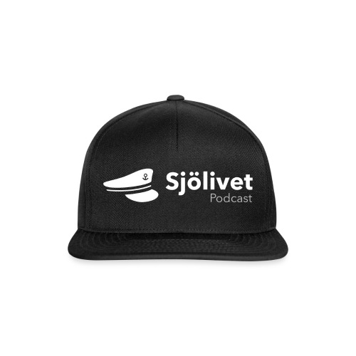 Sjölivet podcast - Vit logotyp - Snapbackkeps