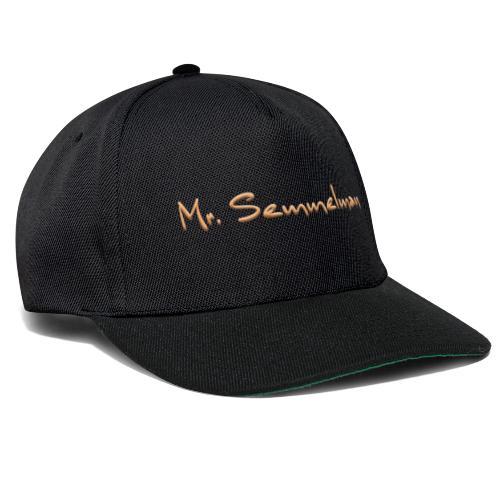 Mr Semmelman text - Snapbackkeps