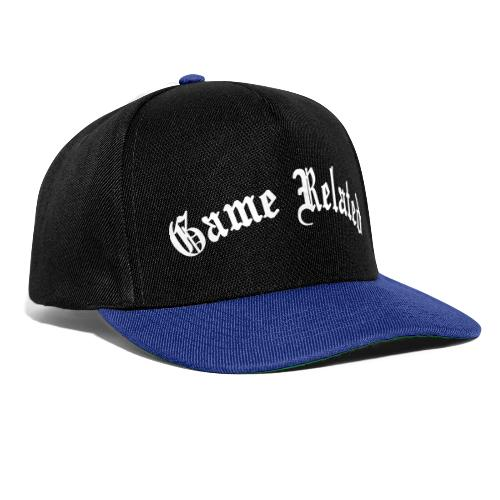 Game Related - valkoinen printti - Snapback Cap