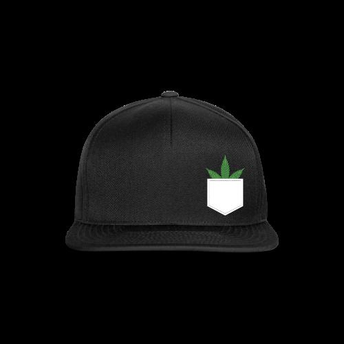 Brusttasche mit Marihuana / Cannabisblatt - Snapback Cap