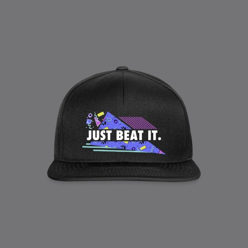 JUST BEAT IT black tee shirt - Snapback Cap