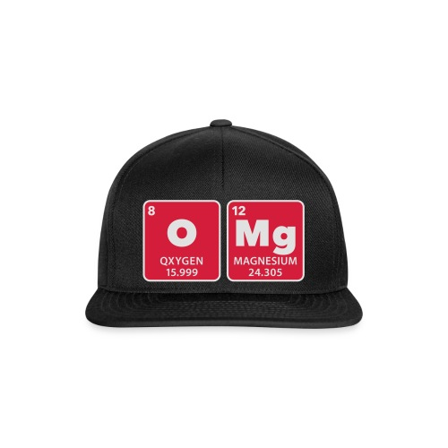periodic table omg oxygen magnesium Oh mein Gott - Snapback Cap
