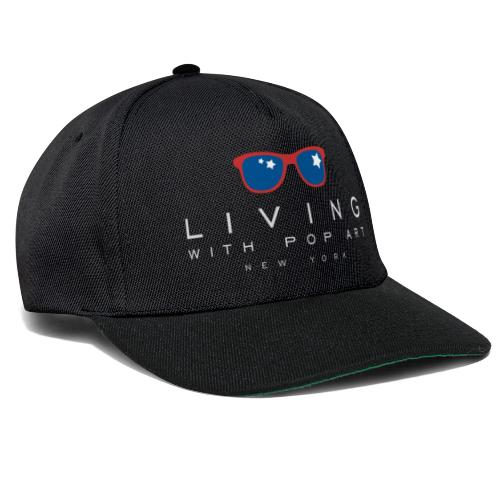 LIVING WITH POP ART BLANC - Casquette snapback