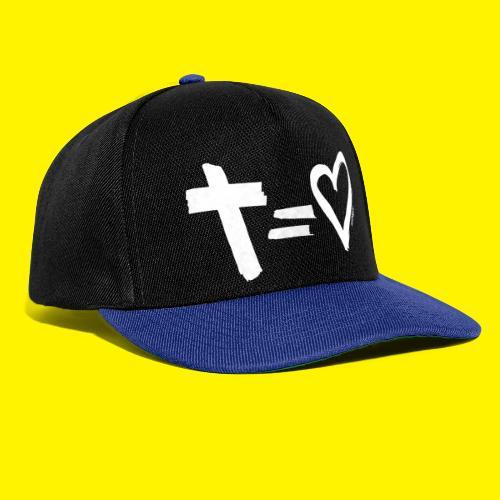 Cross = Heart WHITE // Cross = Love WHITE - Snapback Cap