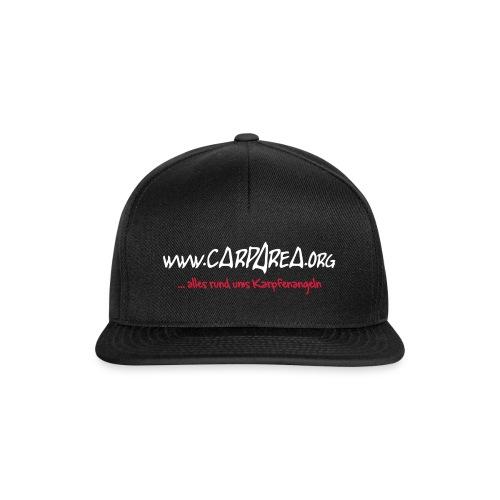 carparea logo inkl text schwarz 120mmkur - Snapback Cap