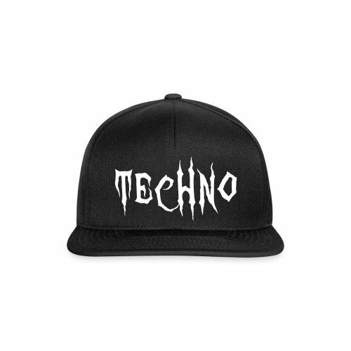 Techno Schriftzug Horror Böse Harder Styles - Snapback Cap