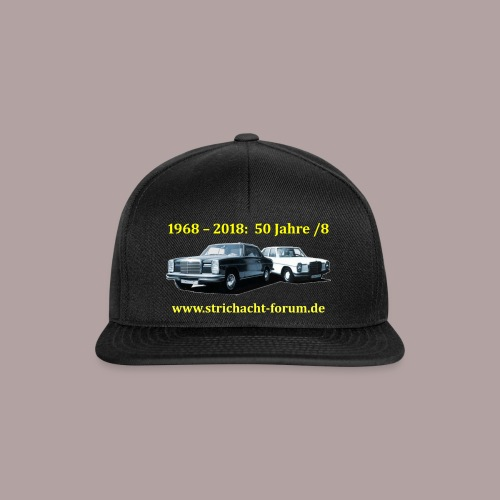 50jahre /8 strichacht-forum.de in gelb - Snapback Cap