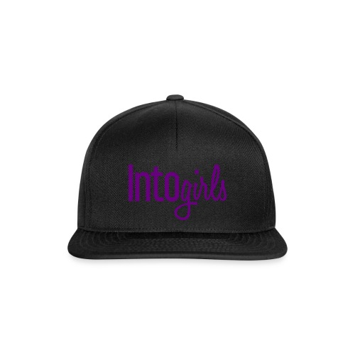 IntoGirls logo paars - Snapback cap