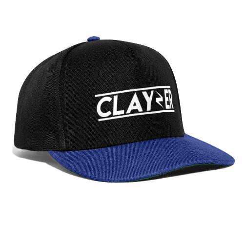 LOGO CLAYZER BLANC - Casquette snapback