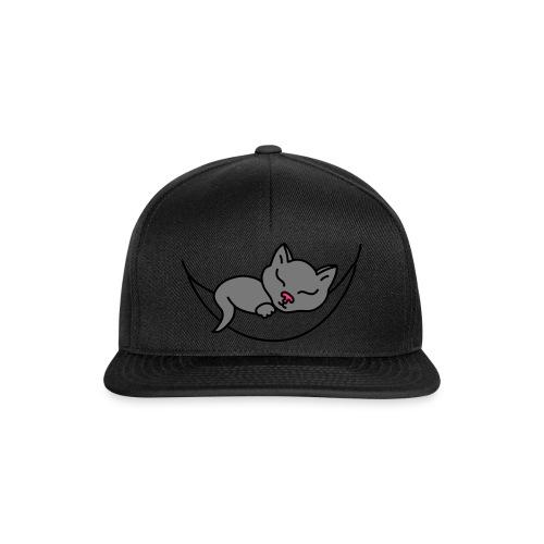Schlafende Katze - Snapback Cap