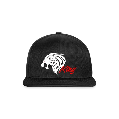 lion-white-and-red - Snapback Cap