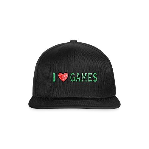 I Love Games - Czapka typu snapback