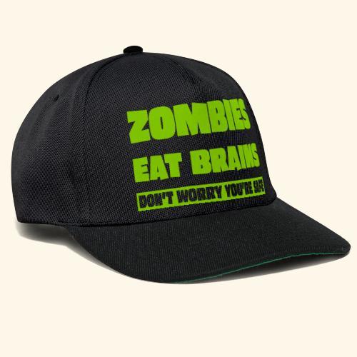 zombies eat brains - Snapback Cap