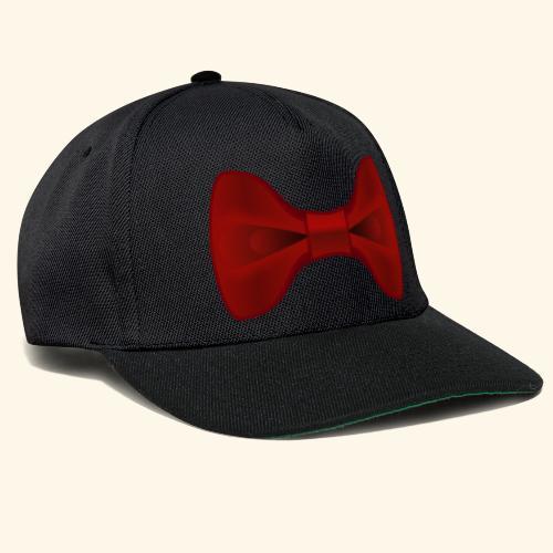 Nœud Papillon Rouge uni - Casquette snapback
