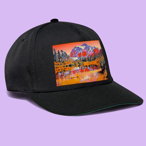 Montagne rosse punteggiate - Snapback Cap