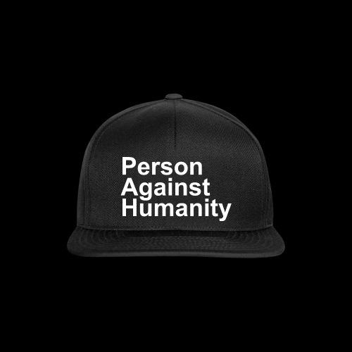 PERSON AGAINST HUMANITY BLACK - Snapback Cap