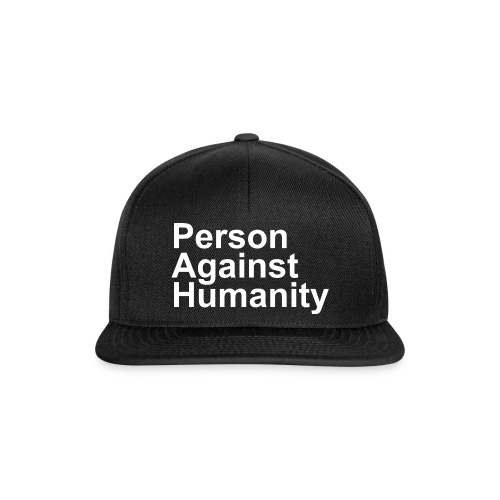 PERSON AGAINST HUMANITY BLACK - Snapback Cap