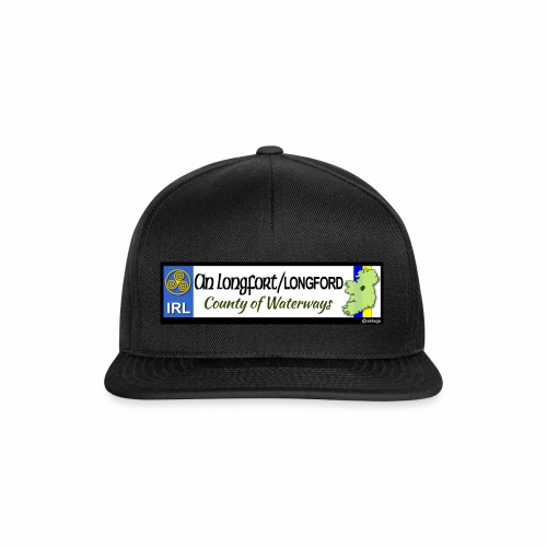 LONGFORD, IRELAND: licence plate tag style decal - Snapback Cap