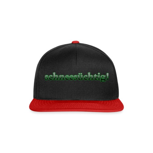 Logo Schriftzug Schwarz - Snapback Cap