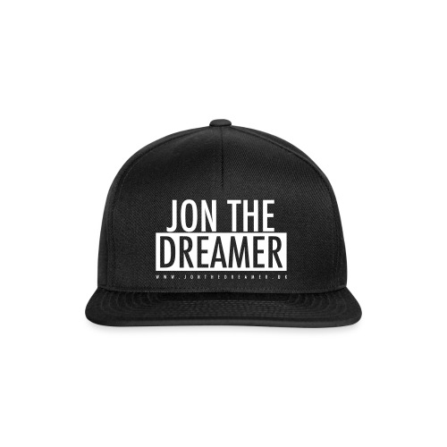JON THE DREAMER LOGO - BLACK - Snapback Cap