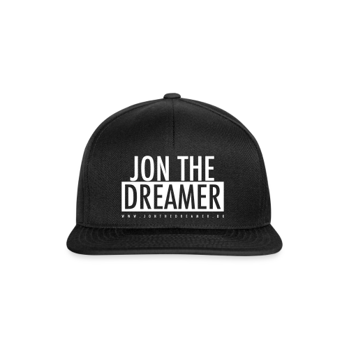 JON THE DREAMER LOGO - BLACK - Snapback Cap