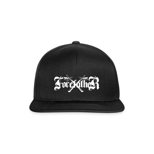 Forefather logo white - Snapback Cap