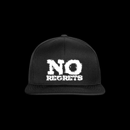 NO REGRETS Transparent - Snapback Cap