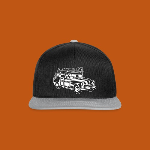 Chevy Cadilac Woodie / Oldtimer Kombi 01_weiß - Snapback Cap