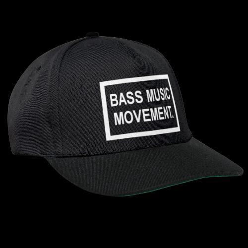 Bass Music Movement - White - Snapback Cap