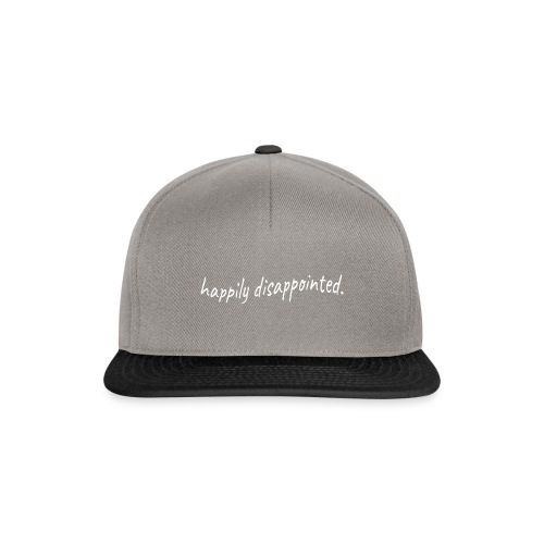happily disappointed white - Snapback Cap