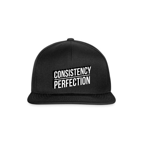 Consistency Over Perfection - Snapback Cap