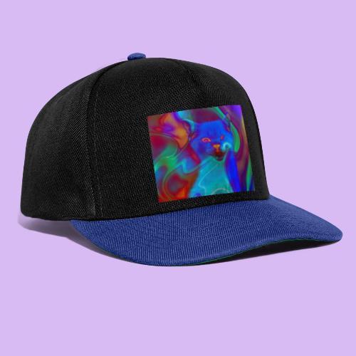 Gattino con effetti neon surreali - Snapback Cap