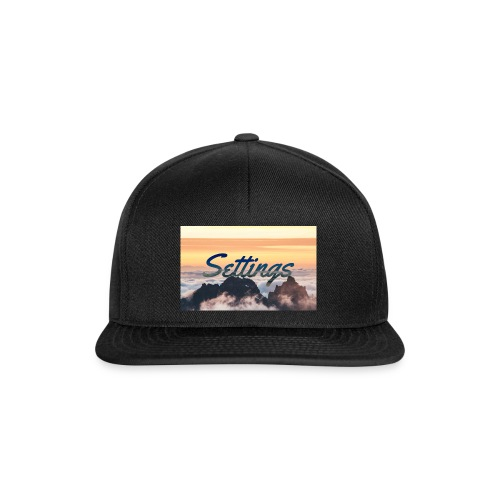 Settings Clouds - Snapback Cap