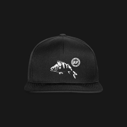 punksnotdead1white png - Snapback Cap