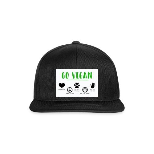 Go vegan - Casquette snapback