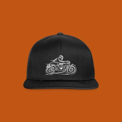 Cafe Racer Motorrad 03_weiß - Snapback Cap