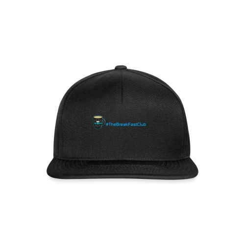 mug plus text - Snapback Cap