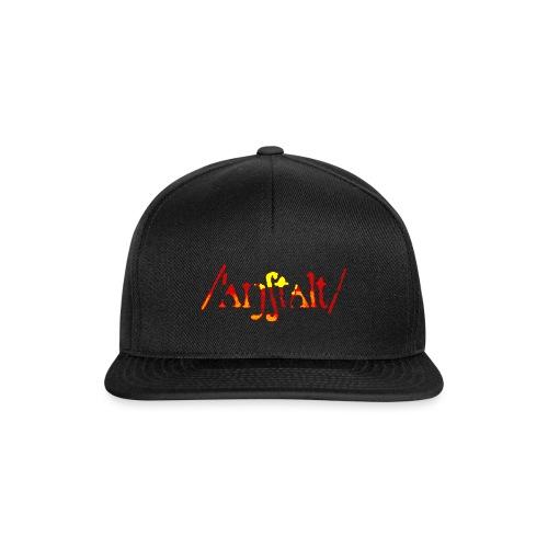 /'angstalt/ logo gerastert (flamme) - Snapback Cap