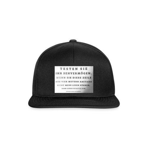 Sehtest - Snapback Cap