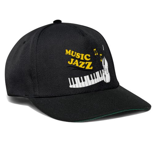 music jazz con piano e contrabbasso - Snapback Cap