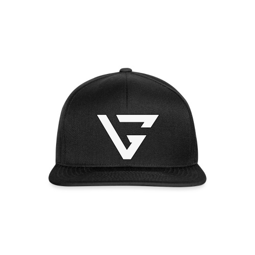 White Outline Smaller png - Snapback Cap