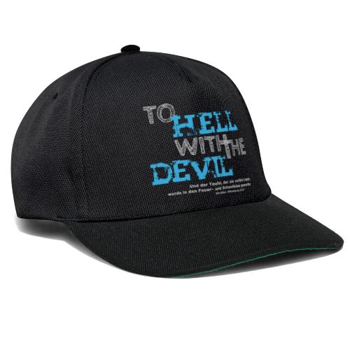 to hell with the devil blau - Snapback Cap